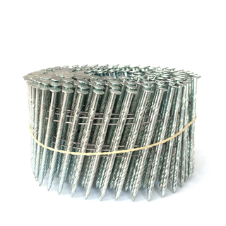 15 Degree Galvanized 2-1/2 Inch Coil Nails
