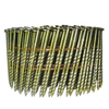 15 Degree Bright Screw Shank Coil Nails