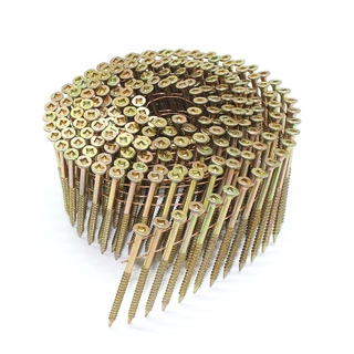 3.05mm X 65mm 15 Degree Square Head Wire Coil Nail Screw