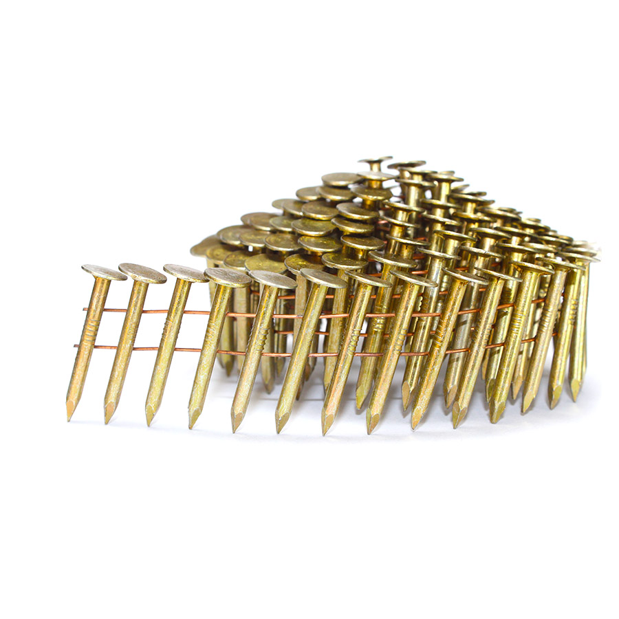 15 Degree 1-1/4 Inch x .120 Smooth Shank Coil Roofing Nails